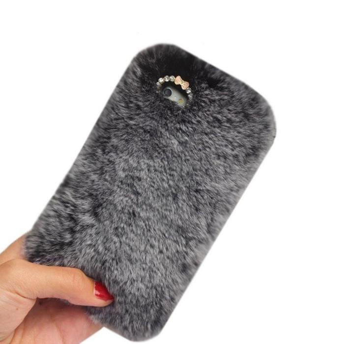 coque iphone 5s fourrure gris 960x ref 1654