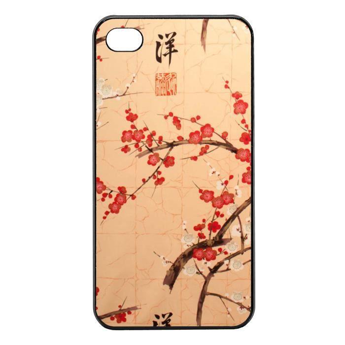 coque iphone 4 4s cerisier japonais signe chi