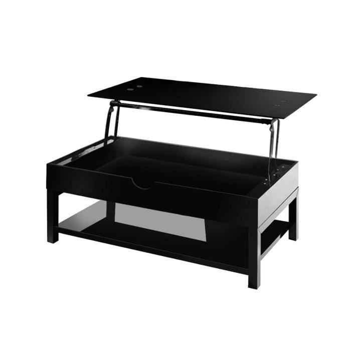 table basse relevable hype noir laqu achat vente. Black Bedroom Furniture Sets. Home Design Ideas