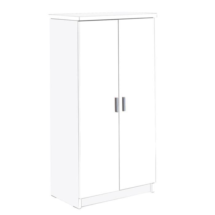 armoire chaussures blanc avec 2 portes de 50 achat. Black Bedroom Furniture Sets. Home Design Ideas