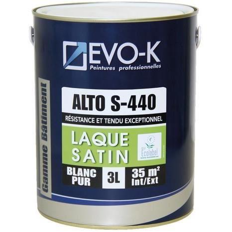 Peinture Laque Qualite Pro Professionnelle Blanc Pur Satin Lessivable Interieur Exterieur Huisseries Et Boiseries Bois Mur 3l