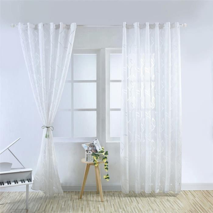 1pcs 100x250cm rideaux voilage blanc pour salon r