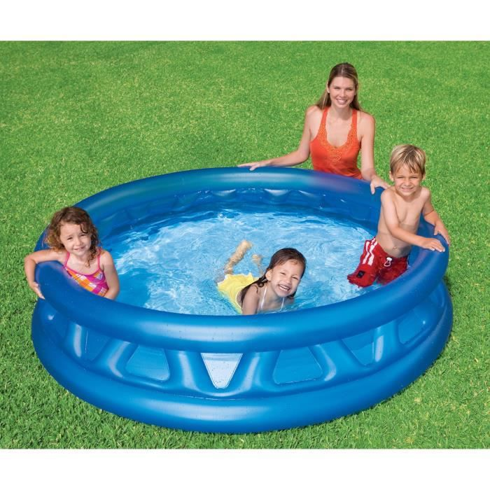Intex piscine gonflable enfant et famille ronde 188 x 46 for Piscine gonflable rectangulaire