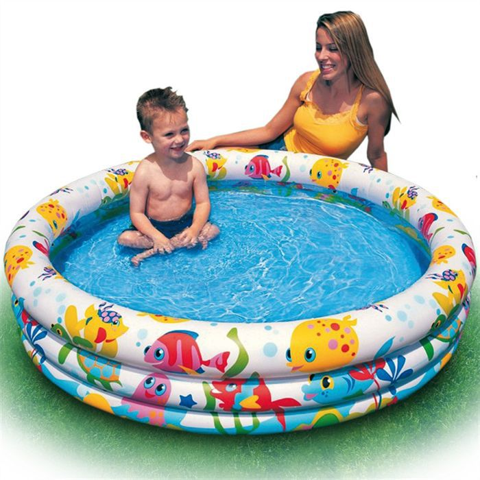 juniors plein air piscine gonflable poissoncm f  col