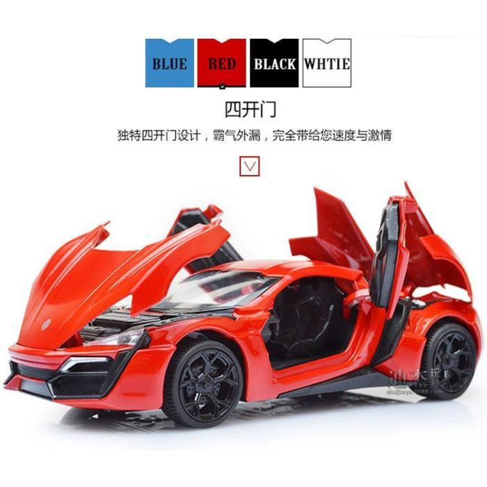 the fast and furious lykan hypersport lluxurious alliage voitures mod les collection m tal. Black Bedroom Furniture Sets. Home Design Ideas