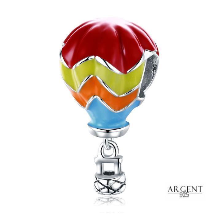 Charme Montgolfière turque - Argent 925 Montgolfière colorée ...
