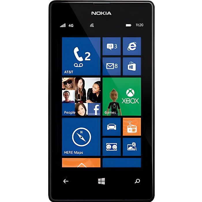 nokia lumia 520 noir neuf achat smartphone pas cher. Black Bedroom Furniture Sets. Home Design Ideas