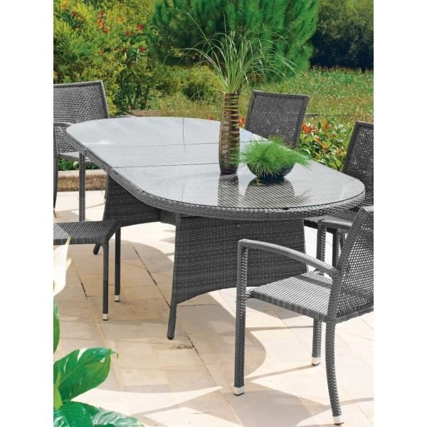 table de jardin ovale avec rallonge. Black Bedroom Furniture Sets. Home Design Ideas