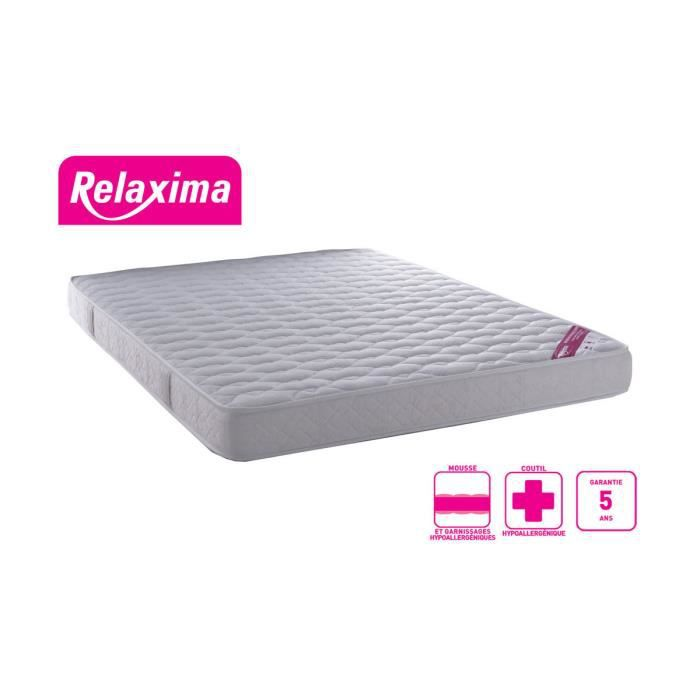 matelas mousse relaxima 160 x 200 tr s ferme 3 achat vente matelas cdi. Black Bedroom Furniture Sets. Home Design Ideas