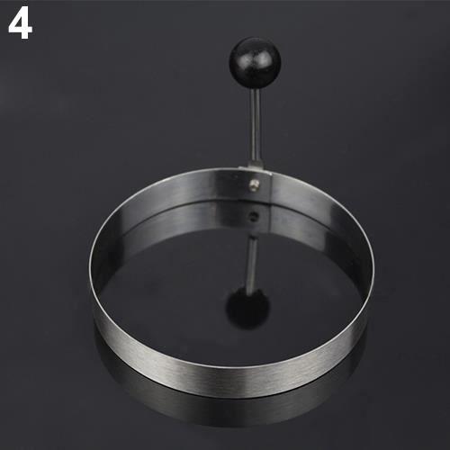 Lot de 4 anneaux /à /œufs en acier inoxydable anti-adh/ésif avec anneau /à cr/êpes pour cuisine en m/étal