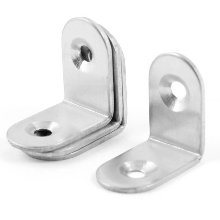 Par Brackit Supports dangle en acier zingu/é 16 mm de large et 50 mm de long avec vis Lot de 30