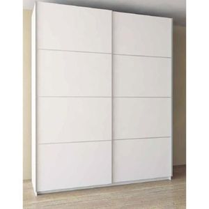 armoire blanche porte coulissante achat vente armoire. Black Bedroom Furniture Sets. Home Design Ideas