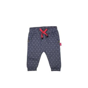 PANTALON DIRKJE Pantalon Jersey Imprimé Plumes Bleu Marine