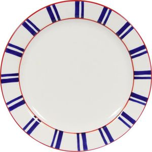 NOVASTYL Basque 8023224 Lot 6 Assiettes plates 26,5cm - Bleu - Faience