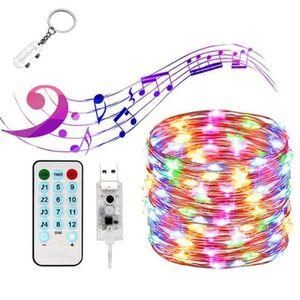 GUIRLANDE LUMINEUSE INT USB Guirlande Lumineuse LED ,20M 200 LEDs 8 Modes