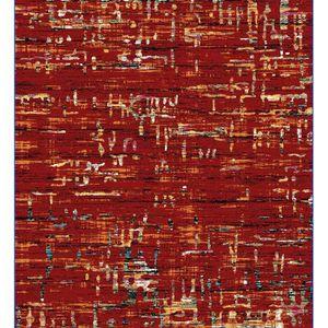 TAPIS Tapis de salon rouge design KYLE L 125 x P 170 x H