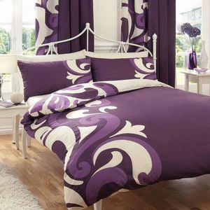 housse de couette 200x200 violet achat vente housse de. Black Bedroom Furniture Sets. Home Design Ideas