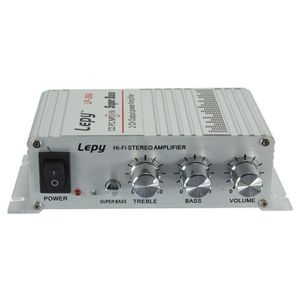 AMPLIFICATEUR AUTO Lepy 40W 12V 2-Canaux Hi-Fi Stéréo Amplificateur A