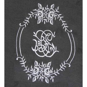 RIDEAU Rideau Romantique en 100% Lin Anthracite 145 x 260