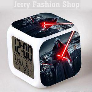 RÉVEIL SANS RADIO Star Wars Réveil Horloge Cube LED 7 couleurs Les E