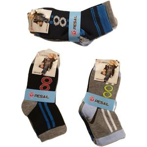 * 6 Paires Garçons Sneaker Chaussettes Enfant Coton Riche Années scolaires 8-11 tfhdfh