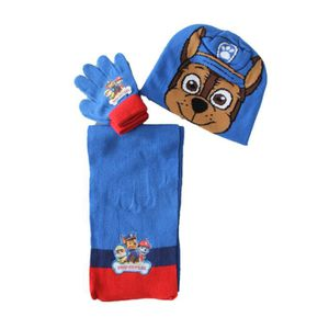 BONNET - CAGOULE ensemble bonnet gants écharpe pat patrouille chaze