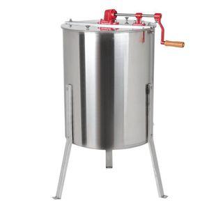 DEFIGEUR A MIEL 4-Cadre Extracteur De Miel Manuel En Acier Inoxyda