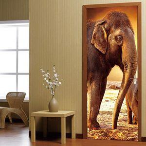 Énorme Girafe savane-percée dans 3d-Look tapisserie décoration