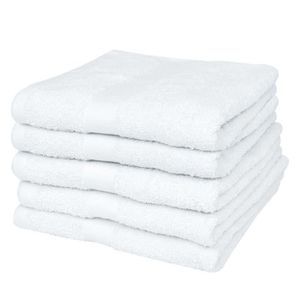SERVIETTES DE BAIN 25 serviettes de toilette blanches 50 x 100 cm 100