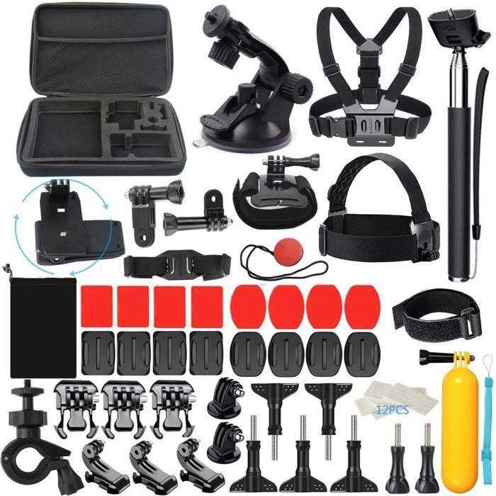 CAMERA SPORT - CAMERA FRONTALE Kit d'accessoires de sport en plein air 58-en-1 pour GoPro Hero7 - 6-5-3 + - 2 - Xiaomi - Xiaoyi -