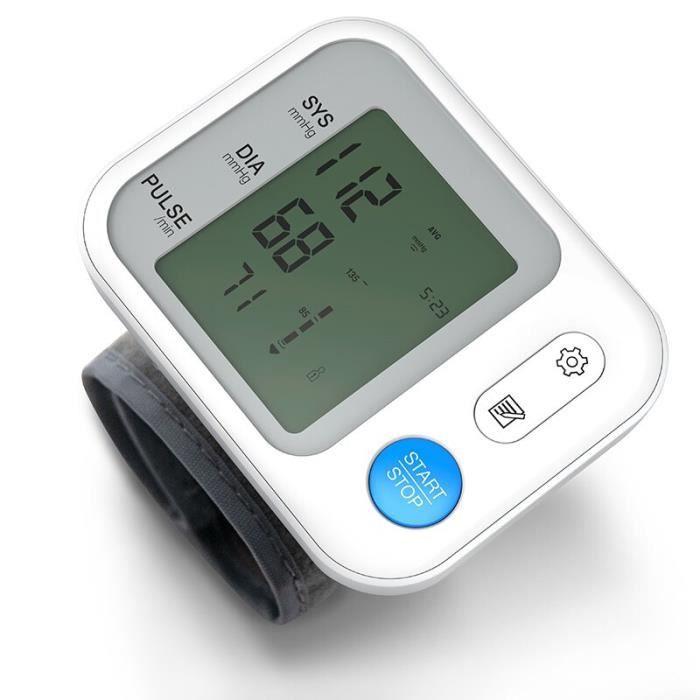 Tensiomètre automatique numérique au poignet,sphygmomanomètre, tonomètre, pression artérielle, avec écran LCD, médical,