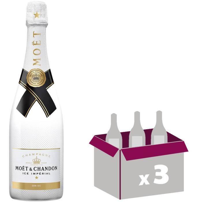 3X Moët et Chandon Ice Impérial Brut 75cl - Champagne
