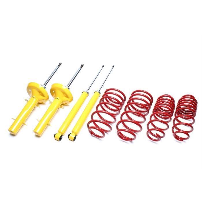 Kit suspension amortisseurs + ressorts pour Citroen Saxo type S de 04-1996 a 2003, rabaissement avant : 60mm, pour motorisation d...