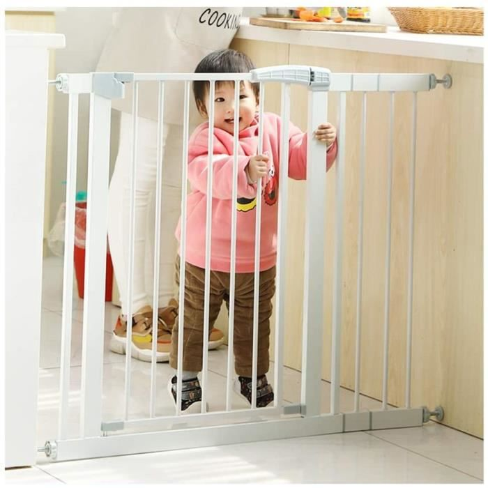 ZEMIN Barriere De Securite Enfant Chien Escalier Porte Ajustable Escalier À Travers La Marche for Les Enfants Les Tout-Petits d A504