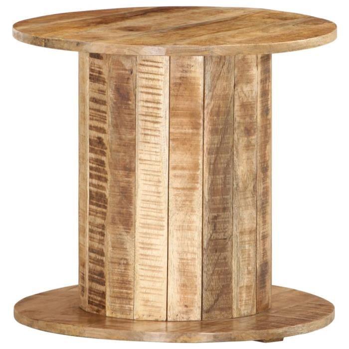 ����7718Luxueuse Moderne- Table d'appoint table Basse de Salon Bouts de canapé Style Contemporain Scandinave- ronde 50x50x46 cm Bois