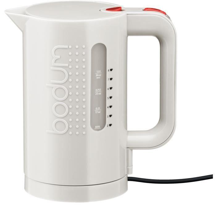 BODUM BISTRO 11452 Bouilloire électrique – Blanc Crème
