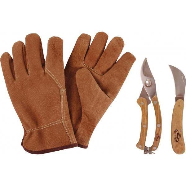 Set d'outils pour tailler avec gant en cuir