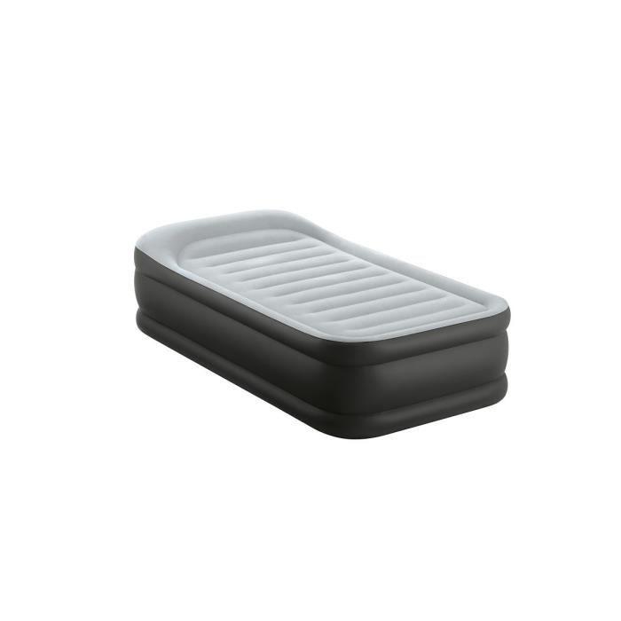 INTEX Matelas DELUXE REST BED FIBER TECH 99x191 cm - Gonflable - Fermeté réglable - 42 cm - Électrique - 1 personne