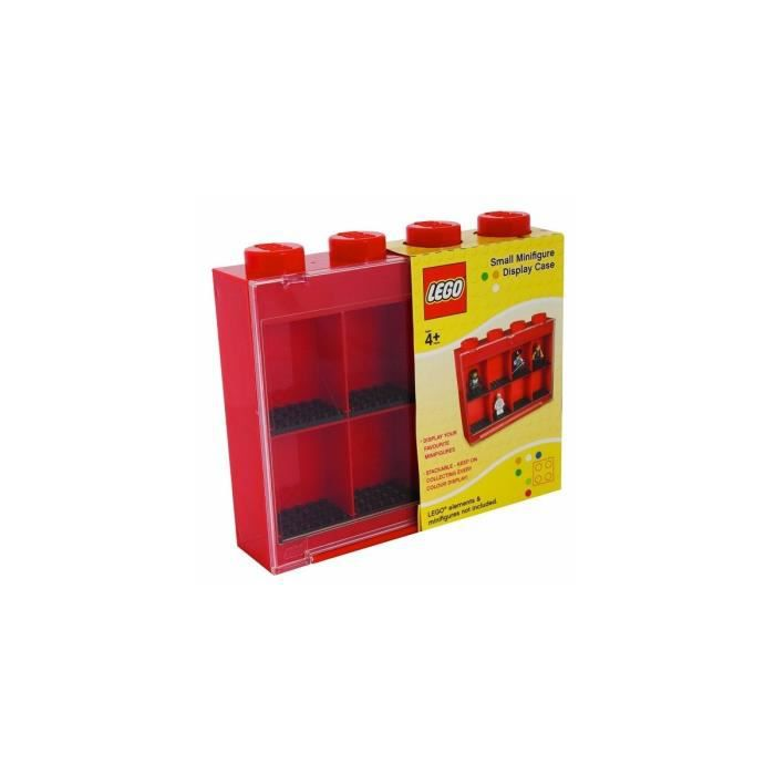 LEGO - VITRINE FIGURINES 8 CASES - ROUGE