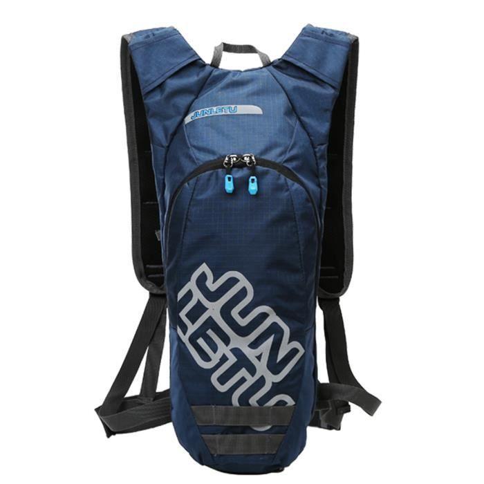 Sac d'hydratation extérieur Compact sac à dos pour 2L vessie d'eau étanche multi poches léger cyclisme course randonnée sac à dos-3