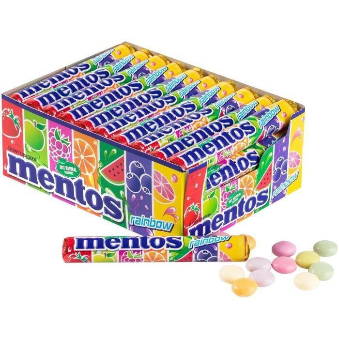 MENTOS Boîte de 40 rouleaux - Rainbow