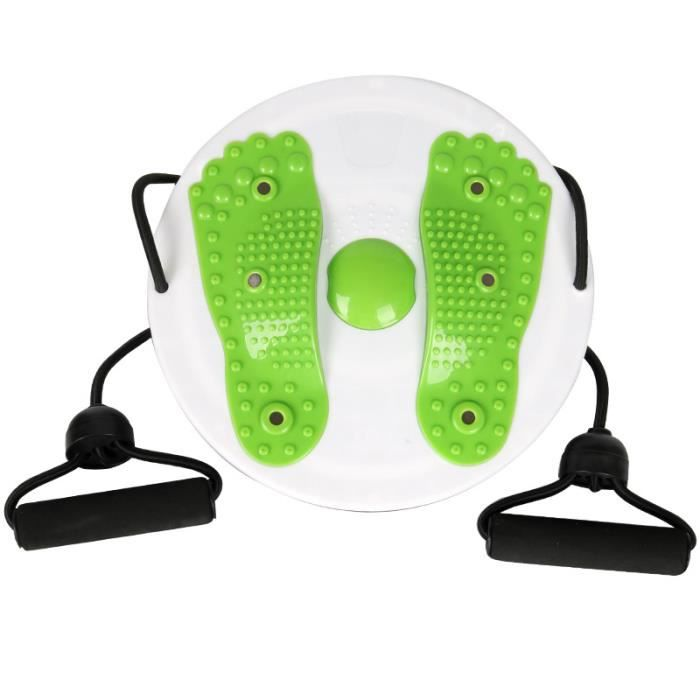 Twister Plate Twist Board Aimant Plate Twist Disk Fitness Twist Taille Wriggle Plate Foot Massage Disc vert