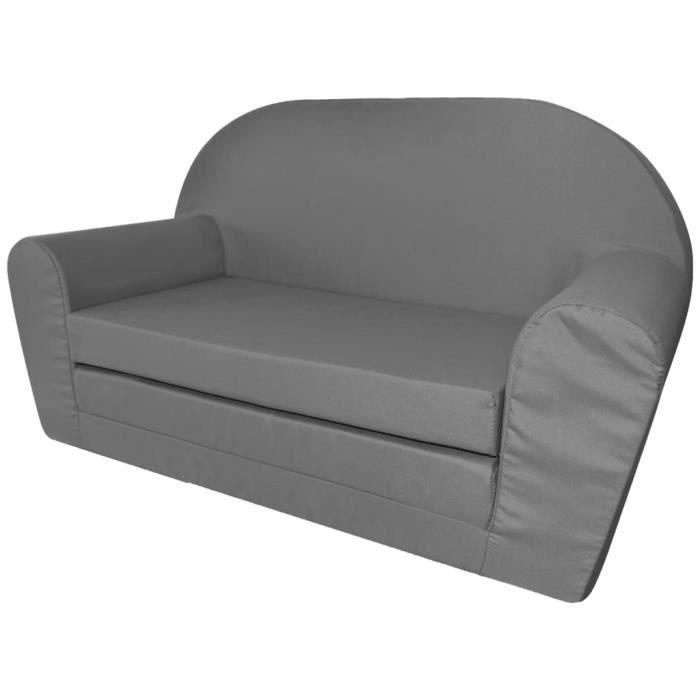 5501LIFE® Chaise longue pliable pour enfants,Canapé Sofa Pliable pour Enfant,Fauteuil Relax, Gris