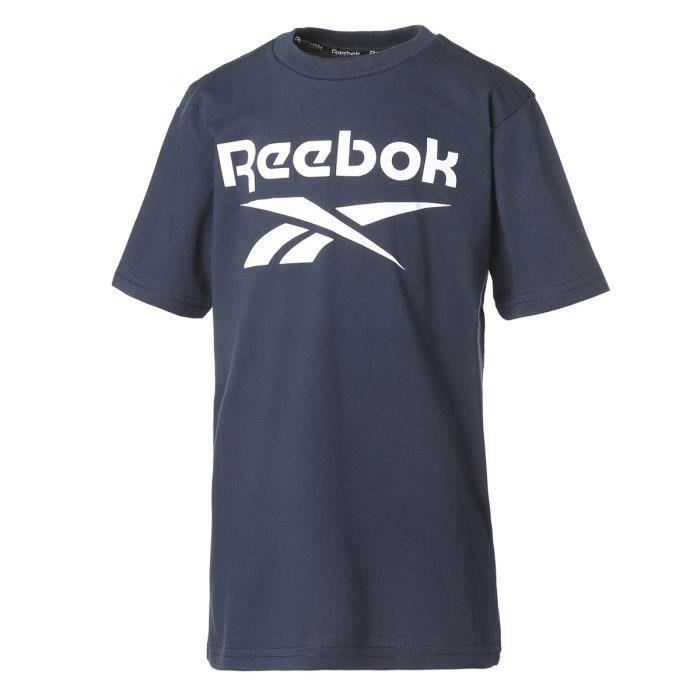 REEBOK - Teeshirt garçon - Marine - logo Classic