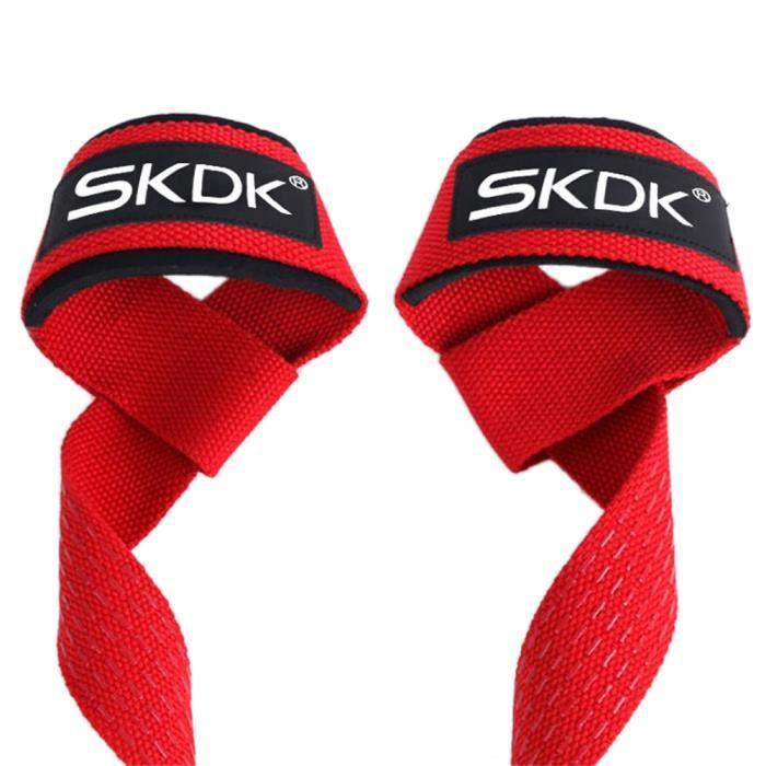 SKDK 2 Pièces - Paire Gym Fitness Haltérophilie Poignées Bandes Haltère Formation Poignet Soutien Sangles Sangles pour Haltère