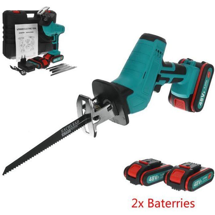 AvanC 36V Scie Sabre Alternative 2X Batterie 4000mAh avec 4 Lame Autobloquant LED