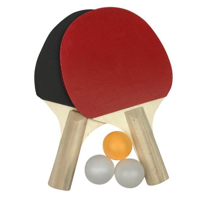 1 ensemble de raquette de ping-pong à revêtement en caoutchouc portable de RAQUETTE DE TENNIS DE TABLE - CADRE DE TENNIS DE TABLE