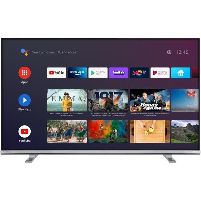 TOSHIBA 43UA4B63DG TV LED UHD 4K - 43- (108 cm) - Android TV - 4 x HDMI - 2 x USB