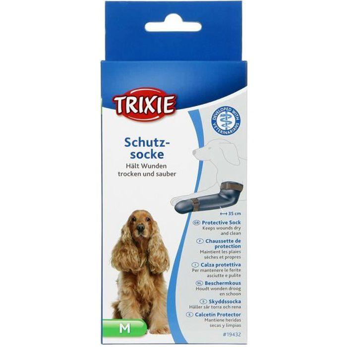 TRIXIE Chaussettes de protection en silicone - M : 8 cm-35 cm - Gris - Pour chien