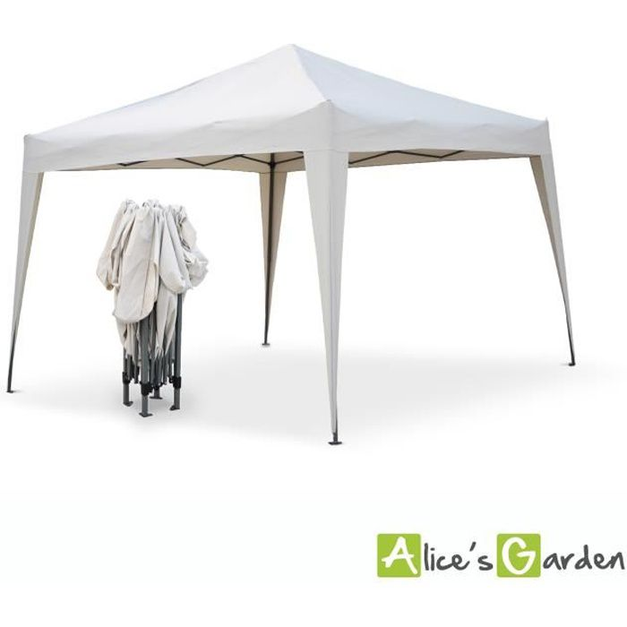 Tonnelle pliante tecto 3x3 tente de jardin pop up pergola pliable barnum chapiteau - Table de jardin pop up mulhouse ...